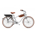 Beach cruiser à assistance électrique O2Feel Pop silver 374Wh 2018