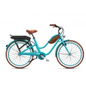 Beach cruiser à assistance électrique O2Feel Pop Low Ocean 374Wh 2018