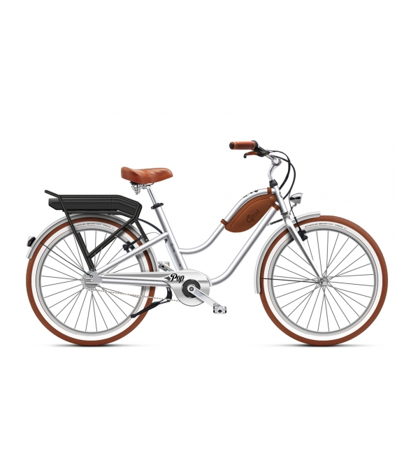 Beach cruiser à assistance électrique O2Feel Pop Low silver 504Wh 2018