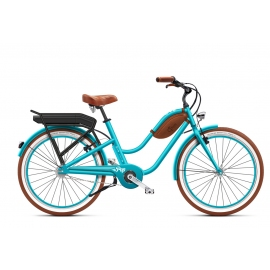 Beach cruiser à assistance électrique O2Feel Pop Low Ocean 504Wh 2018