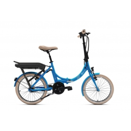Vélo pliant à assistance électrique O2Feel Peps N7C skyblue 374Wh limited 2018