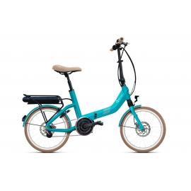 Vélo pliant à assistance électrique O2Feel Swan Fold Alfine Di2 Océan 504Wh limited 2018