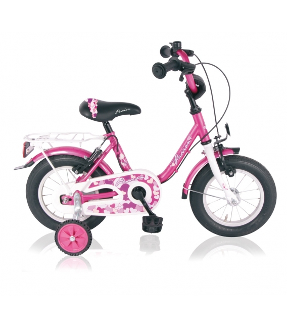 "Vélo fille PASSION 14"" roue libre fuchsia/blanc 2018"