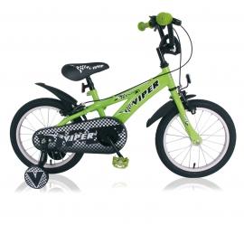 """Vélo garçon VIPER 16"""" vert roue libre 2018"""