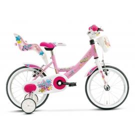 "Vélo fille BAFFY 14"" rose/blanc 2018"