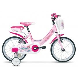 """Vélo fille MARIPOSA 16"""" rose/blanc 2018"""