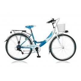 "Vélo fille DIVA 22"" bleu/blanc 2018"