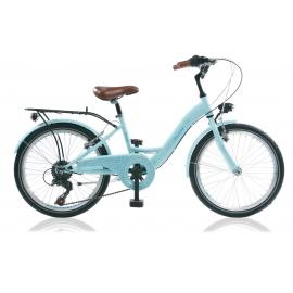 "Vélo fille AMAZONE 22"" 6 vit. Bleu 2018"