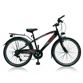 """Vélo garçon MAXX 24"""" 6 vit. Noir/rouge 2018"""