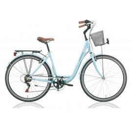 """Vélo de ville CENTRAL PARK 28"""" 18 vit. dame bleu 2018"""