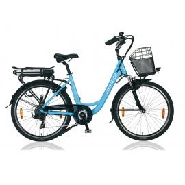 """Vélo à assistance électrique E-Vision PRELUDE 26"""" - 468 Wh bleu 2018"""