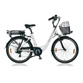 """Vélo à assistance électrique E-Vision PRELUDE 26"""" - 468 Wh blanc 2018"""