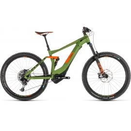 VTT à assistance électrique Cube Stereo Hybrid 140 Race 500 27.5 green'n'orange 2019