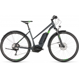 VTC à assistance électrique Cube Cross Hybrid Pro 500 Allroad iridium'n'green Trapeze 2019