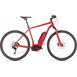 VTC à assistance électrique Cube Cross Hybrid Pro 500 red'n'grey 2019