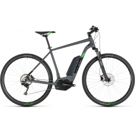 VTC à assistance électrique Cube Cross Hybrid Pro 400 iridium'n'green 2019