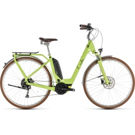 Vélo à assistance électrique Cube Elly Ride Hybrid 400 green'n'black 2019