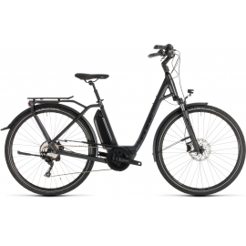 Vélo à assistance électrique Cube Town Sport Hybrid Pro 400 iridium'n'black Easy Entry 2019