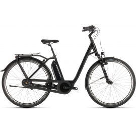 Vélo à assistance électrique Cube Town Hybrid EXC 400 black edition Easy Entry 2019