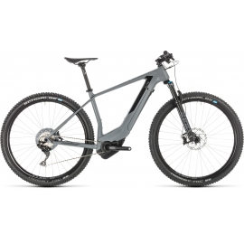 VTT à assistance électrique Cube Elite Hybrid C:62 SL 500 KIOX 29 grey´n´black 2019