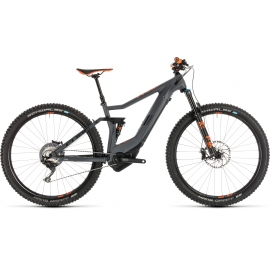 "VTT à assistance électrique Cube Stereo Hybrid 120 HPC TM 500 KIOX grey´n´orange 27.5"" 2019"