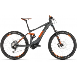VTT à assistance électrique Cube Stereo Hybrid 140 TM 500 KIOX 27.5 grey´n´orange 2019