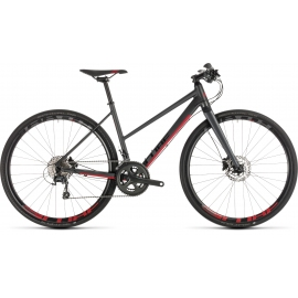 Vélo de route Cube SL Road Pro iridium´n´red Trapeze 2019