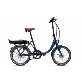 Vélo pliant à assistance électrique O2Feel PEPS N3 ORIGIN blue/brick 504 2019