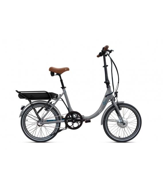 Vélo pliant à assistance électrique O2Feel PEPS N3 ORIGIN grey/blue 374 2019