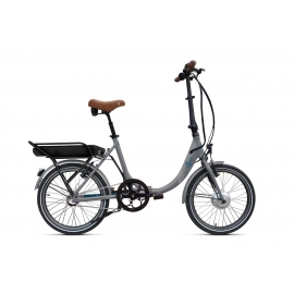 Vélo pliant à assistance électrique O2Feel PEPS N3 ORIGIN grey/blue 374 2019