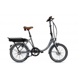 Vélo pliant à assistance électrique O2Feel PEPS N3 ORIGIN grey/blue 374 2020