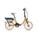 Vélo pliant à assistance électrique O2Feel PEPS N3 ORIGIN orange 374 2019