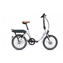 Vélo pliant à assistance électrique O2Feel PEPS N3 ORIGIN white 374 2019