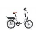 Vélo pliant à assistance électrique O2Feel PEPS N3 ORIGIN white 374 2019