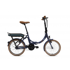 Vélo pliant à assistance électrique O2Feel PEPS N7C OES bleu 374 2020
