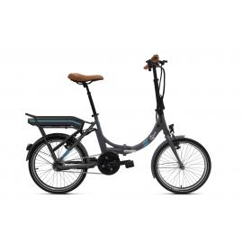 Vélo pliant à assistance électrique O2Feel PEPS N7C OES gris 374 2020