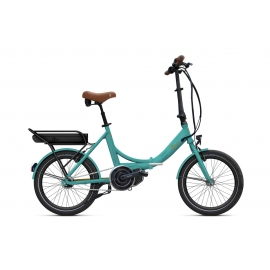 Vélo pliant à assistance électrique O2Feel PEPS N7C SHIMANO STEPS E5000 mint/copper P400 2020