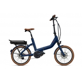 Vélo pliant à assistance électrique O2Feel SWAN FOLD N7C SHIMANO STEPS E5000 blue/brick P400 2020