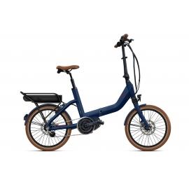 Vélo pliant à assistance électrique O2Feel SWAN FOLD N7C SHIMANO STEPS E5000 blue/brick P600 2020