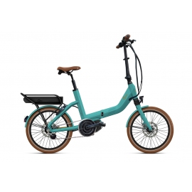 Vélo pliant à assistance électrique O2Feel SWAN FOLD ALFINE Di2 SHIMANO STEPS E5000 mint/copper P600 2020