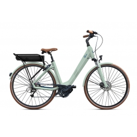 Vélo à assistance électrique O2Feel SWAN D8 SHIMANO STEPS E5000 light green/blue P600 2019