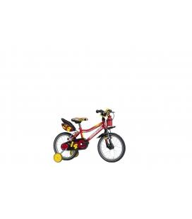 "Vélo garçon MONOPOLI 14"" rouge/noir 2019"