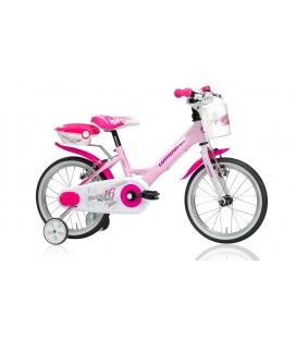 """Vélo fille MARIPOSA 16"""" rose/blanc 2019"""