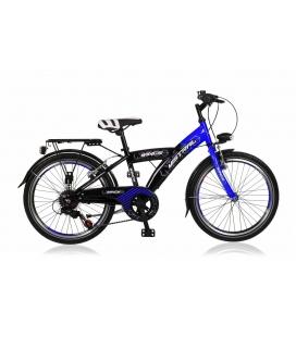 "Vélo garçon MISTRAL 22"" 6 vit. Noir/bleu 2019"