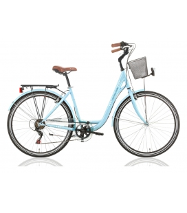 """Vélo de ville CENTRAL PARK 28"""" 18 vit. dame bleu 2019"""