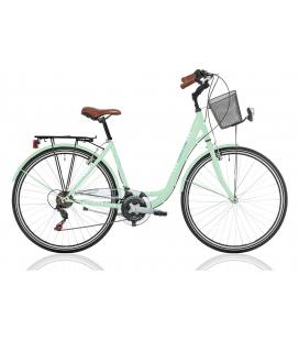 """Vélo de ville CENTRAL PARK 28"""" 18 vit. dame vert 2019"""