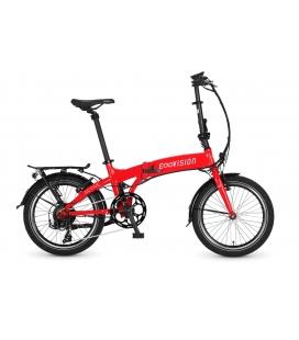 """Vélo pliant à assistance électrique E-Vision Active 20"""" rouge 2019"""