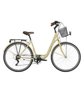 """Vélo de ville CENTRAL PARK 28"""" 18 vit. dame crème 2019"""