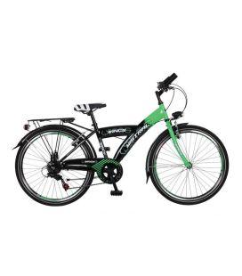 """Vélo garçon MISTRAL 24"""" 6 vit. Noir/vert 2019"""