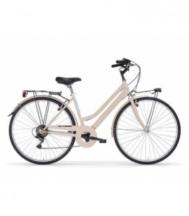 """Vélo de ville TOURING 28"""" 6 vit. Dame crème 2019"""